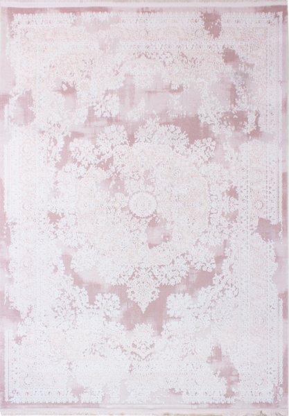 Vintage Teppich NAHLA Pink-Pastell Weiß