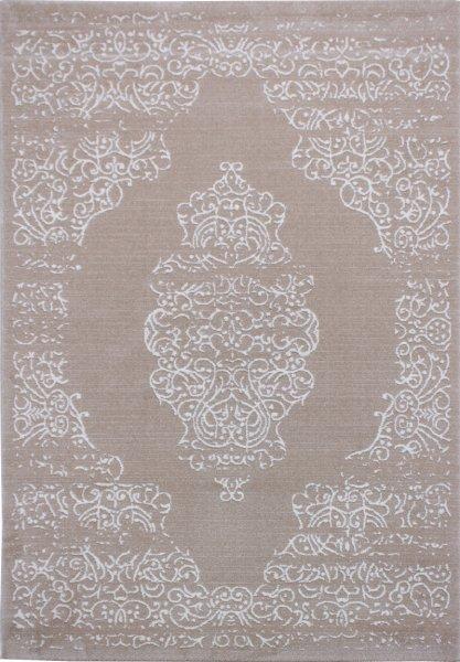 Teppich Leon Vintage Creme Beige Weiß