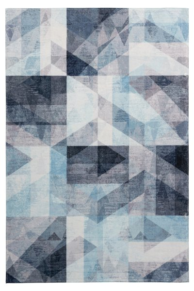 Design Teppich Diana Blau