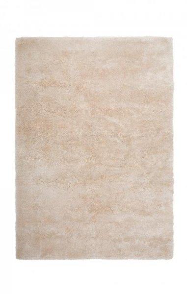 Hochflorteppich Handgetuftet Weiß Creme