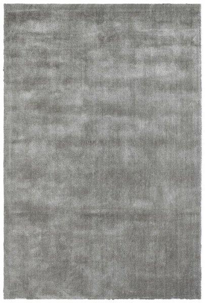 Naturfaser Teppich Handgefertigt Silber Grau