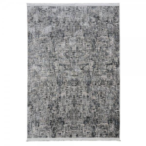 Moderner Teppich Lichteffekt Grau Design Fransen