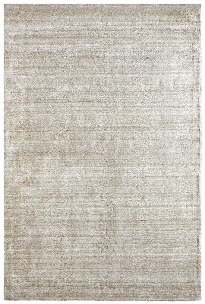 Teppich aus Wolle & Viskose Handarbeit Creme Beige