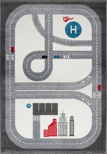 Spielteppich Straße & Stadt Grau