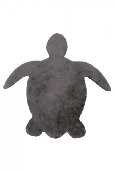 Kinderteppich grau Schildkröte Form Kinderzimmer Teppich