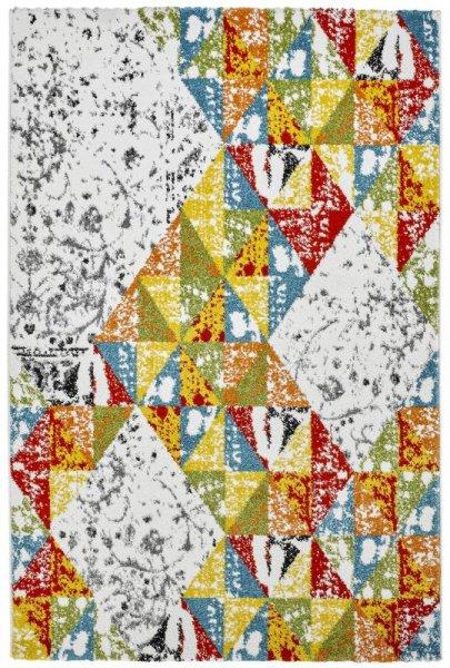 Teppich Vintage Rauten Design Multicolor