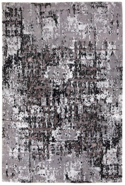 Teppich ELEMENTS Handgeknüpft Silber Grau