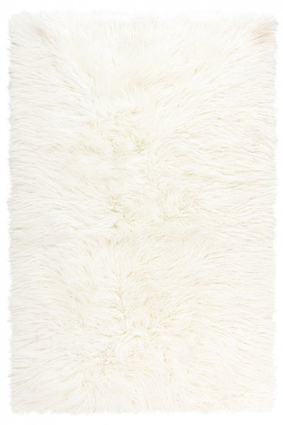 Modernes Kunstfell Teppich Bagy Creme Hochwertig Weich
