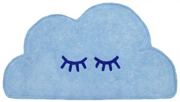 Waschbarer Wolken-Teppich für Babys Baumwolle Blau
