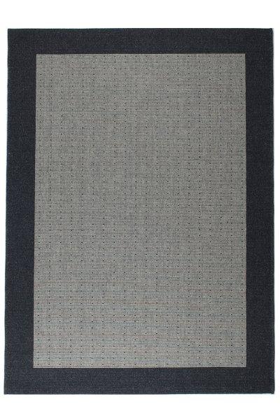 Teppich Nordisch Flachgewebe Grau Dunkelgrau