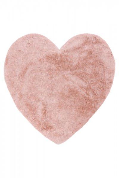 Kinderteppich puder pink Herz Form Kinderzimmer Teppich