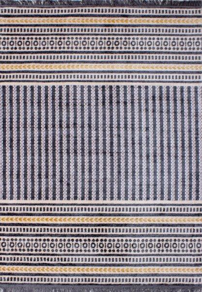 Teppich Ethno Stil Grau