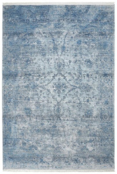 Teppich Vintage Look Hellblau