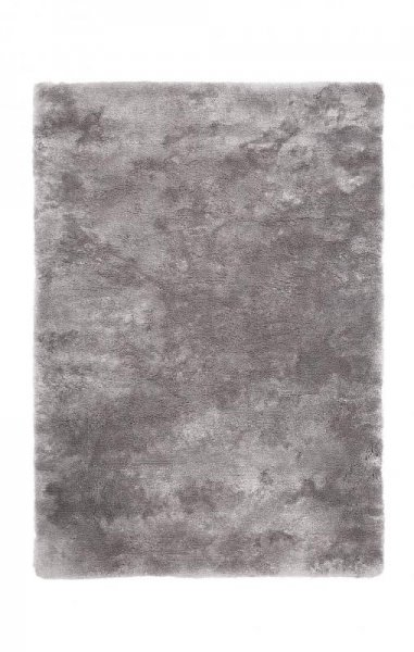 Hochflorteppich Handgetuftet Silber Grau