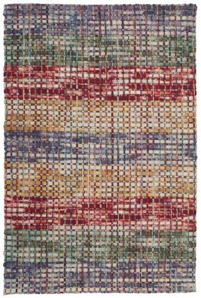 Wollfilz-Teppich Handgewebt Multicolor